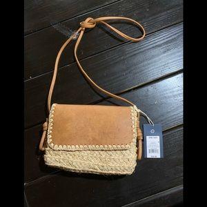 NWT universal thread straw crossbody purse